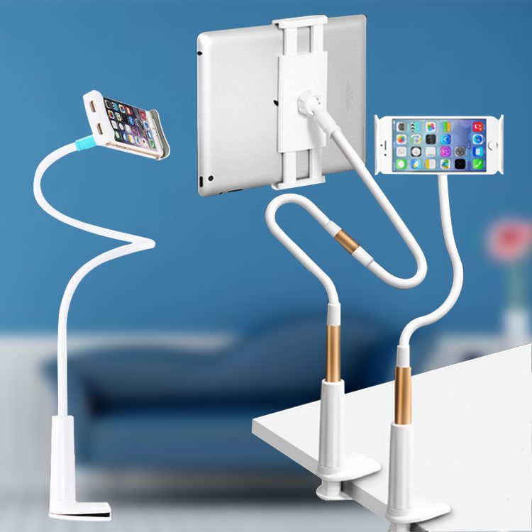 Flexible  Gooseneck Clip Lazy Man Tablet Phone Stand Clamp Mount Holder For Bed